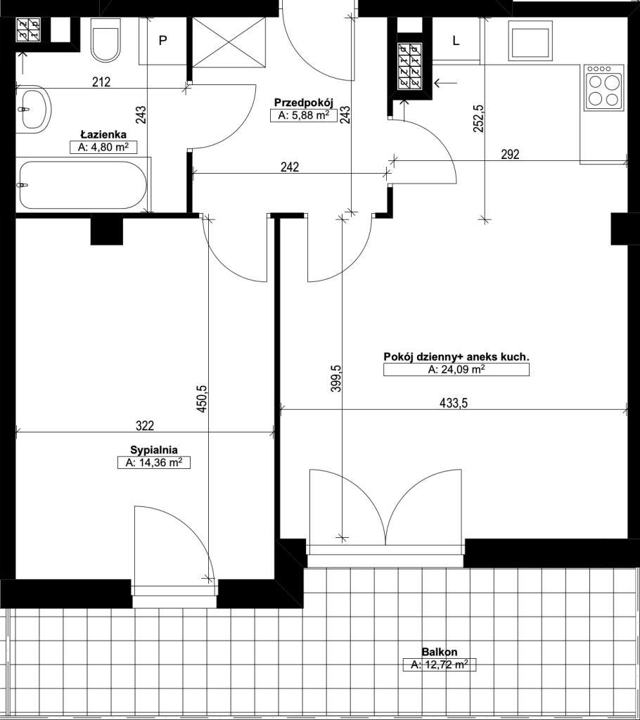 dwupokojowe mieszkanie nr20