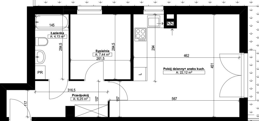 dwupokojowe mieszkanie nr4