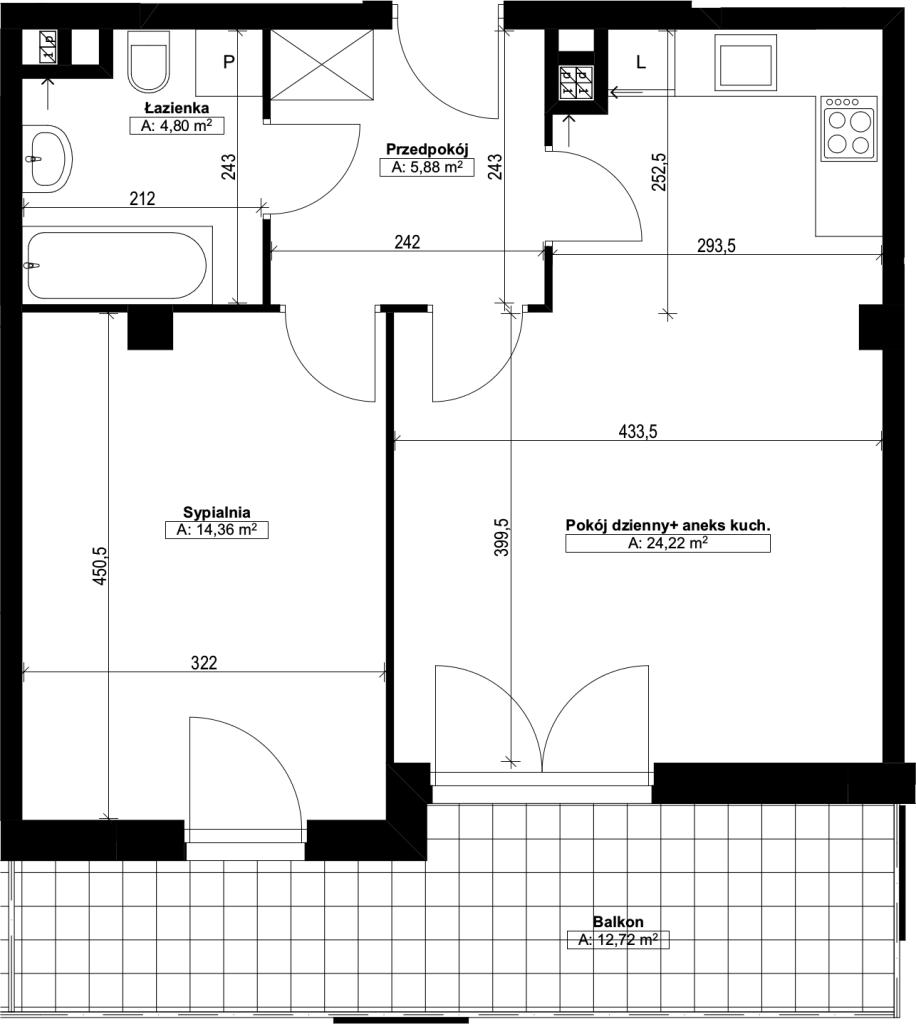dwupokojowe mieszkanie nr8